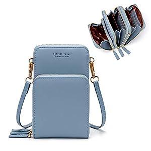 Small Crossbody Cell Phone Bag for Women, Mini Shoulder Handbag Wallet Card Hold Purse