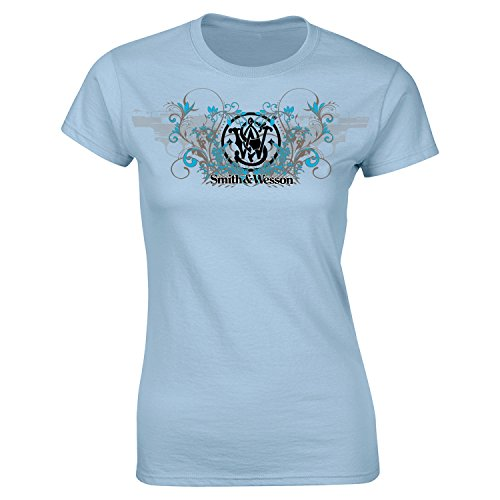 S&W Ladies Two Shooter Snub-Nosed Tee in Light Blue