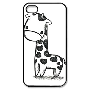 Giraffe Personalized 2D Phone Case for Iphone 4,4S at DLLPhoneCase ( DLL470497 )