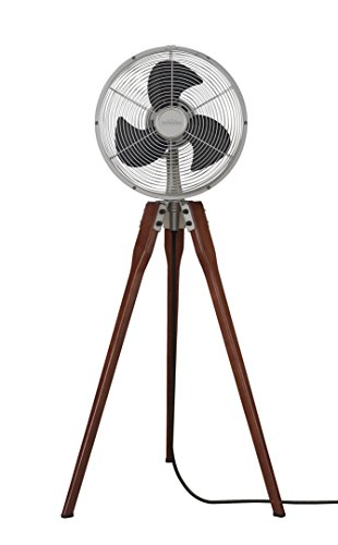 Fanimation Arden Pedestal Fan - Satin Nickel with Power Cord - 220v - FP8014SN-220