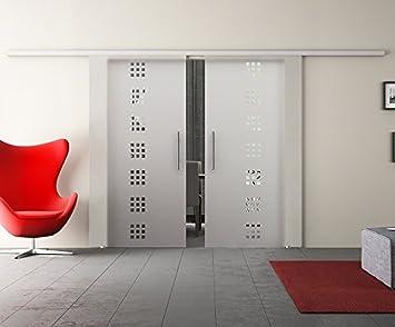Puerta Corredera de Cristal Doble con Dos Discos Puerta Corredera de equipo completo con carril de