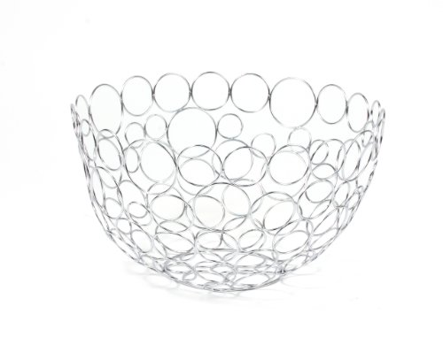 Spectrum Diversified Shapes/Circles Round Fruit Bowl, Chrome