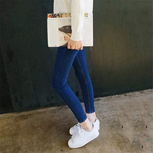Jeans lastique Imitation Les Mince Taille Leggings Delicacydex Jeans Mode Haute Skinny Slim Denim pour Femmes Crayon Pantalon Stretch Haute q6xTwZTIE