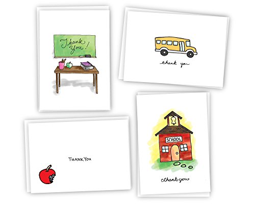 (School Thank You Cards - 24 Cards & Envelopes)