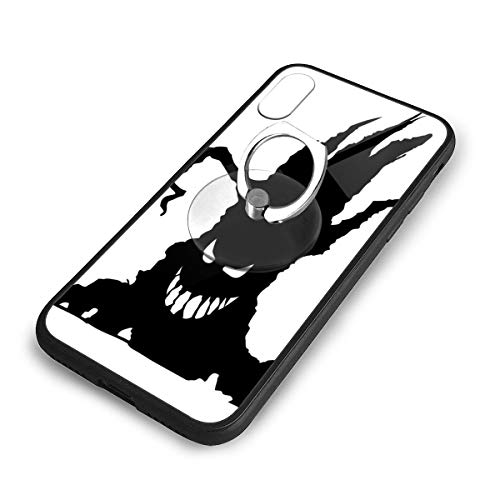 iPhone X Plus Cover Scary Tree Case with Finger Ring Stand XS Phone Kickstand Holder Shock Protective Basic Protector