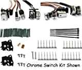 Handlebar switch wiring kit fits 96-06 softail & dyna w/led switches, 60'' chrome