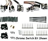 Handlebar switch wiring kit fits 96-06 softail & dyna w/led switches, 60'' chrome