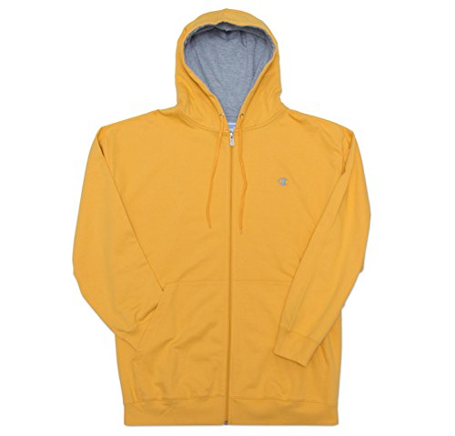 Champion Men's Big-Tall Full Zip Fleece Hoodie Gold 3XL by Champion