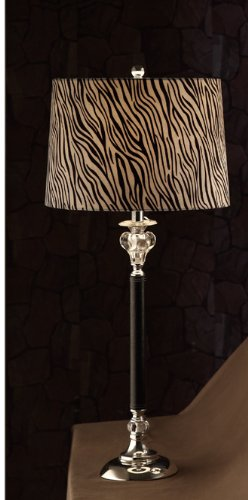 Ultra modern table lamp with zebra stripe shade and shinning silver ultra modern table lamp with zebra stripe shade and shinning silver base pd11f5319 aloadofball Gallery