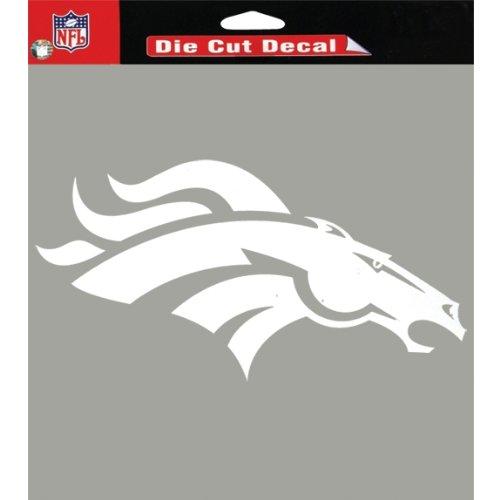 "Denver Broncos Team Logo Die Cut Decal 8"" x 8"" (White)"