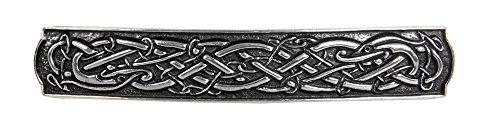 Celtic Bar Hair Clip - Hand Crafted Metal Barrette Made in the USA with imported French Clips By Oberon Design by Oberon Design