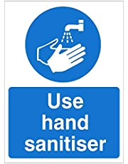 Use Hand Sanitiser Sign 150mm x 200mm - Self Adhesive (HYB.11W-SA)