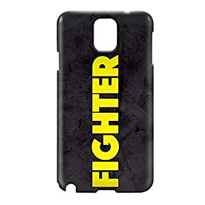 Loud Universe Samsung Galaxy Note 3 3D Wrap Around Fighter Print Cover - Black