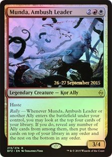 Magic: the Gathering - Munda, Ambush Leader (215/274) - Prerelease & Release Promos - Foil