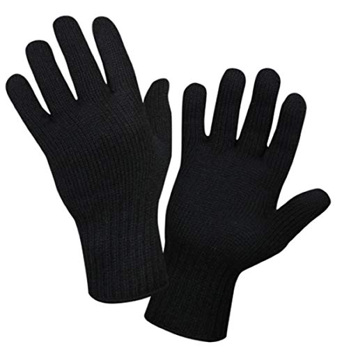 Rothco Wool Glove Liner, Black, Large