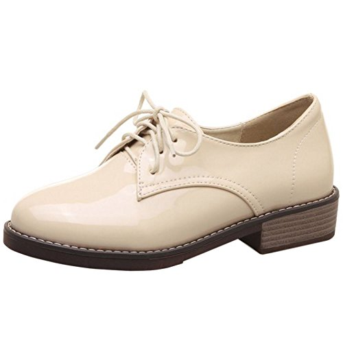 Scarpe Lace Brogue Moda Up Apricot Zanpa Donna wqpOHH4