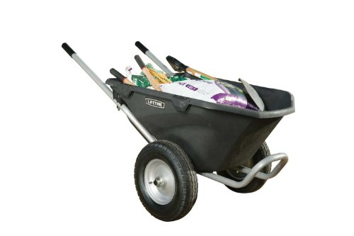 081483003726 - Lifetime 65034 Two Wheel Wheelbarrow, 6.5 Cubic Feet Capacity carousel main 1