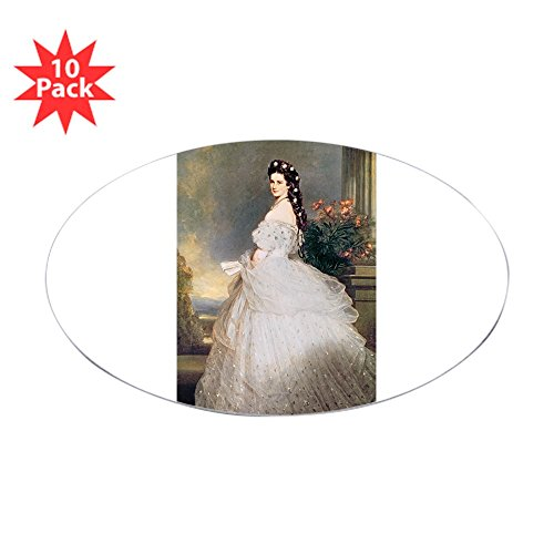 CafePress - S of Austria, 1865 @Oil On Canvasa - Sticker @Oval - Oval Sticker (10-Pack), Bumper Sticker, Car Decal, Euro Oval