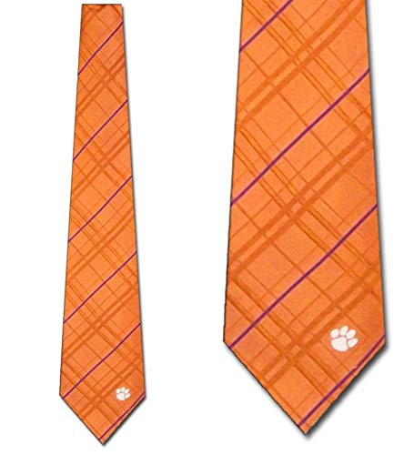 Clemson Striped Woven Silk Neck Tie Eagles Wings Striped Tie