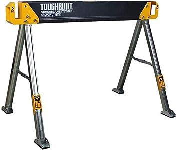Toughbuilt Sturdy Lightweight Heav Folding Sawhorse//Jobsite Table Durable