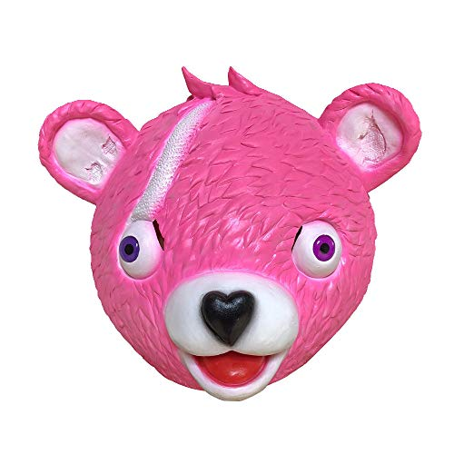 Theshy Cuddle Team Leader Bear Game Mask Melting Face Adult Latex Costume Cosplay Toy Toys and Hobbies for $<!--$13.99-->