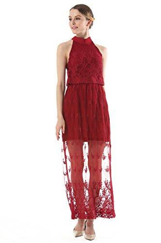 ad30ab69f76e8a ... Und Spitze Rock Kleid Trägerlos Red Bestickte Europa Amerika Dünnes ...