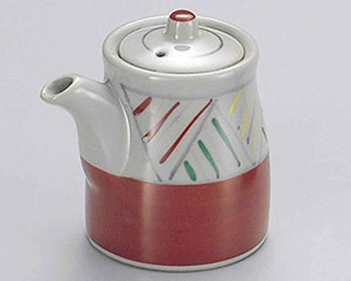 Aziro Red 2.8inch Set of 10 Soy Sauce Dispensers Grey porcelain Made in Japan by Watou.asia