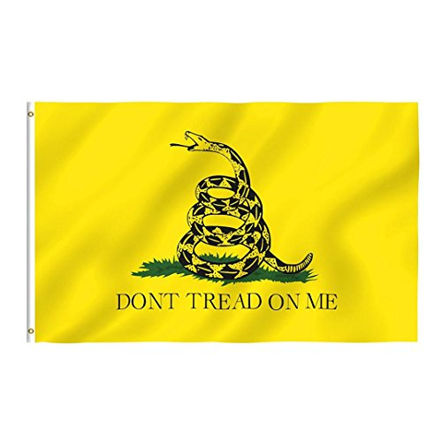 Bandana Rebel (Sannysis Yellow Snake Tea Party Culpeper Dont Tread On Me Flag 3x5FT (Yellow))