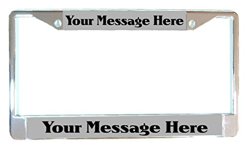 AlphaNumeric Engravers CHROME Personalized Laser Engraved License Plate Frame W/FREE SCREW COVERS Customize On Line NOW!