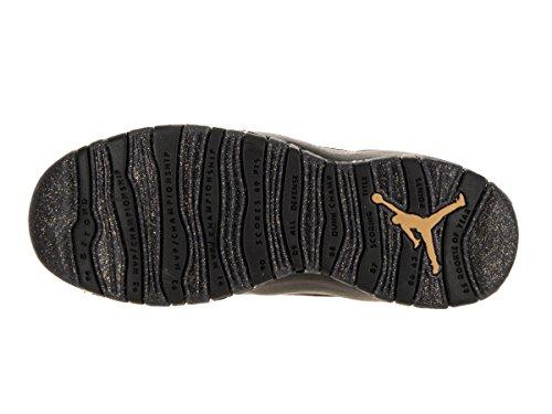 Nike Air Jordan 10 Retrò Grande Stile Kids Nero / Nero / Drk Grigio / Mtllc Gld