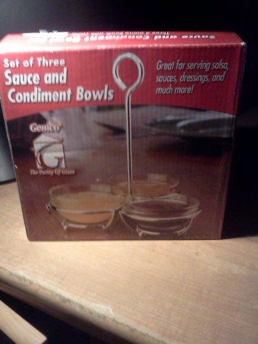 Lifetime Brands Condiment Set (Gemco Sauce & Condiment Bowl Gift Box Set)