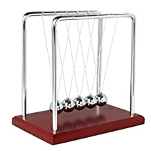 Newtons Cradle Balance Balls Physics Pendulum Science Fun Desk Office Toy, Large