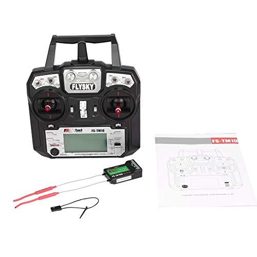 HGJVBFGH1 Flysky FS-TM10 FS-i6X 10CH 2.4GHz AFHDS RC Transmitter with FS-IA10B Receiver noir