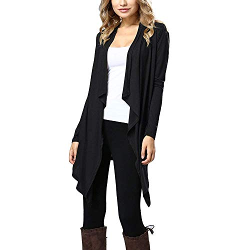 Tricot Casual Manteau Longues Schwarz Cardigan Mode Printemps Saoye Unicolore Automne lgant Vtements Manches en Fashion Longues Manteaux Mince Manteau Femme qaRS7f