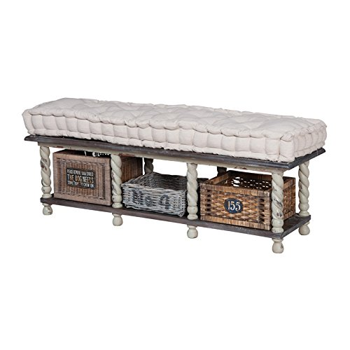 Manhattan Collection European Farmhouse Storage Bench