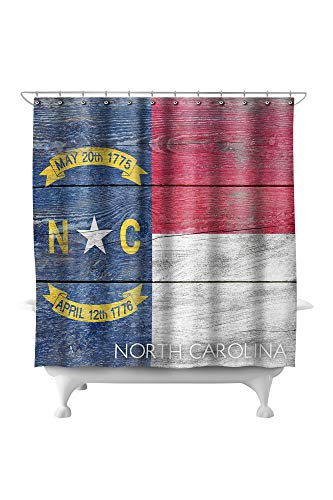 Lantern Press Rustic North Carolina State Flag 52565 (74x74 Polyester Shower Curtain)