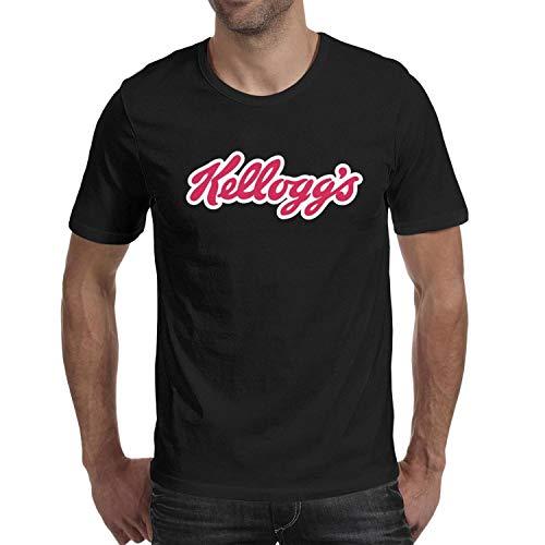 (Heart Wolf Kelloggs Logo Man Black Tee Shirts O-Neck Short Sleeve)