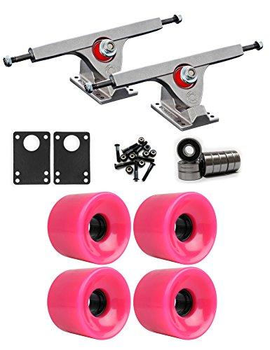 先生衝動変成器Caliber Raw Longboard Trucksホイールパッケージ65 mm x 51.5 MM 83 A 806 Cピンク