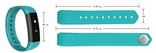 Because iCare Turquoise Band for Trendy PRO Fitness Tracker (Turquoise)