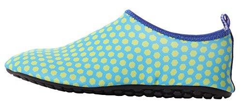 CAIHEE Frauen und Männer Leichtgewichtler Quick Dry Slip On Water Schuhe Aqua Barfuß Haut Schuhe Grün2