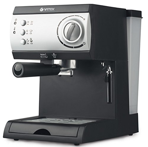VITEK 1050-Watt 15 Bar Pressure Pump Espresso and Cappuccino 1.5 L Coffee Maker (Black)
