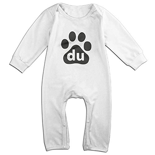 cute-baidu-logo-romper-for-baby-white-size-6-m