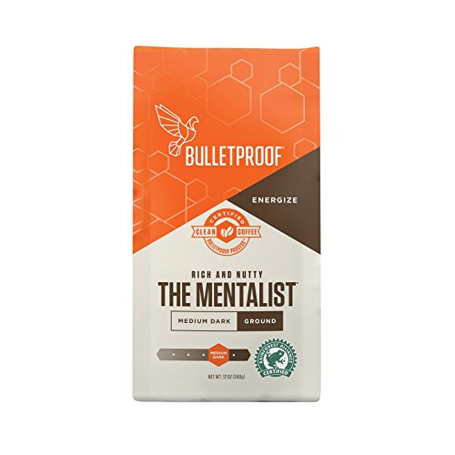 Bulletproof - The Mentalist Dark Roast Ground Coffee, Dark Cocoa and Vanilla Aromatics with Cherry Sweetness (12 ounces)