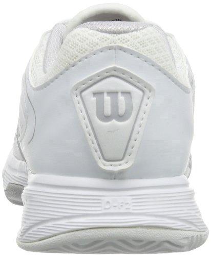 Wilson RUSH 2 W WHITE/STEEL GREY/WHITE - Zapatillas De Tenis de material sintético mujer multicolor - Mehrfarbig (White/Steel Grey/White)