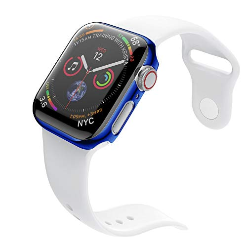 ZTY66 Case for Apple Watch Series 4 40mm//44mm, Soft Ultra Thin PC Plating All-Around Protective Bumper Case Cover for Apple Watch Series 4 40mm/44mm (Blue, Apple Watch 4 44mm) by ZTY66_Protection Case Cover (Image #2)