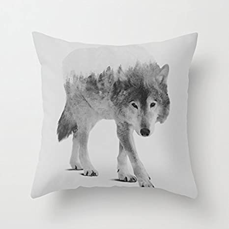 Amazon.com: Fundas de Almohada, diseño de lobo Decorativo 18 ...