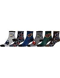 Sakkas Boy's Playful Pattern Assorted Crew Socks 6-Pack
