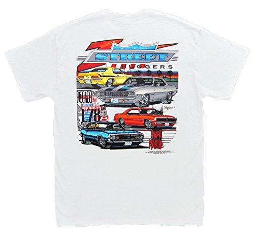 1969 Motion Camaro Baldwin (Hot Shirts Chevrolet Camaro Z Street Huggers - Rock And Roll Muscle T-Shirt: Large - Z/28 SS RS)