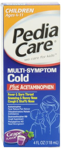 Pediacare Plus Children's Multi-symptom Cold Grape, 4-Ounce