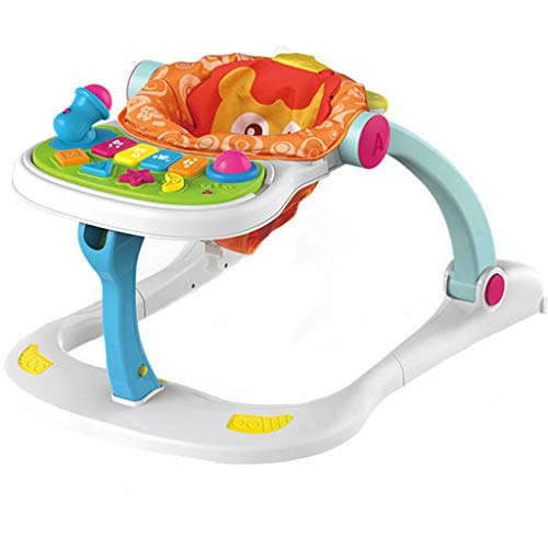 - Baby Walker - Baby Table Game Table Multi-Function Four-in-one Trolley 0-3 Years Old Kids Toys Baby Activity Walker (Multicolor)